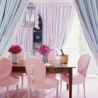 Rethink pink for Pastel dining room ideas