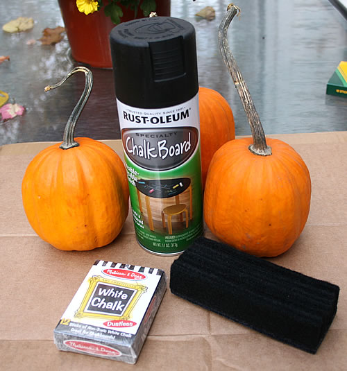 chalkboard pumpkin supplies