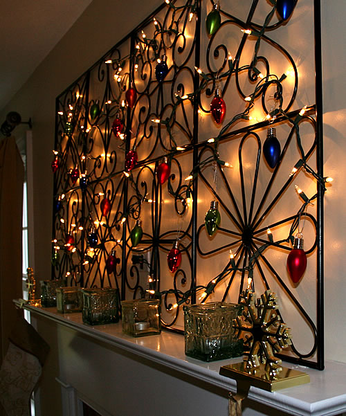 String Lights For Mantelpiece : A Tree-less Christmas