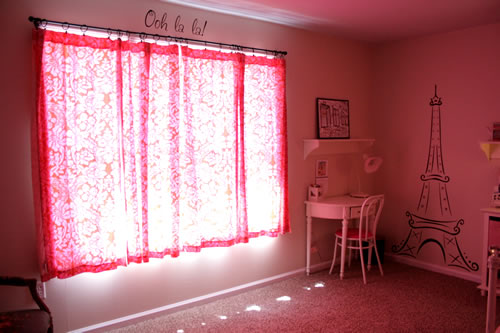 Pink glow in girls bedroom