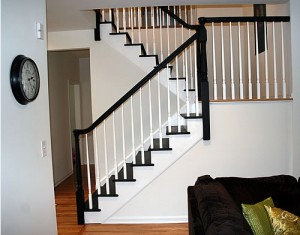 DIY Painted Stairs After