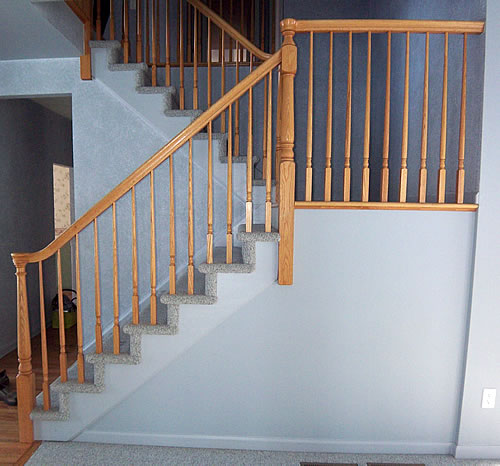 Painting stairs diy faqs and tips for Concrete floor upstairs