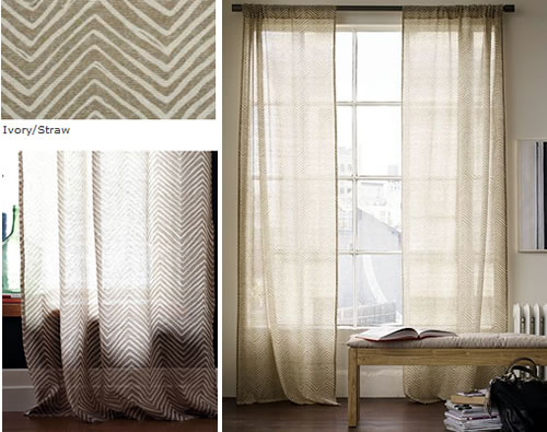 west elm sheer panels