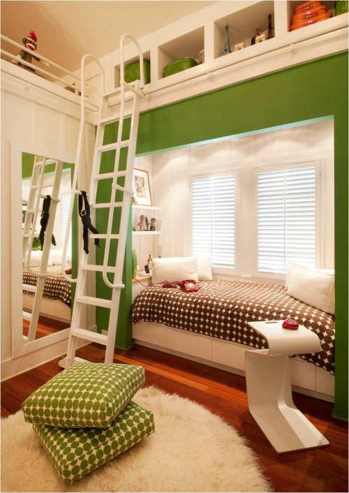 green gender neutral kids room