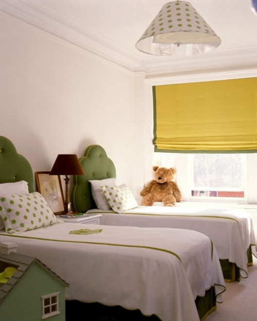 yellow and green gender neutral kids rooms
