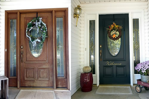 What Color Should I Paint My Front Door picking the right front door color: before and after case studies