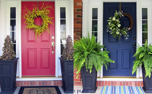 House Door Colors picking the right front door color: before and after case studies