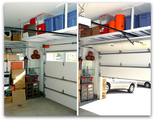 vertical storage in a garage