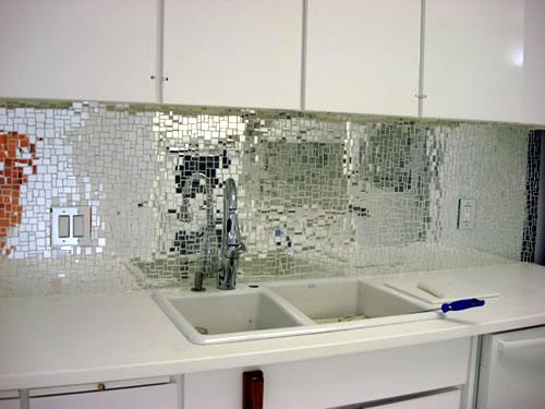 mosaic glass kitchen backsplash