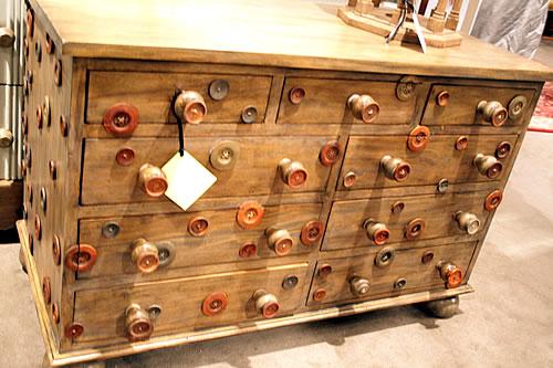 spools embellishing dresser