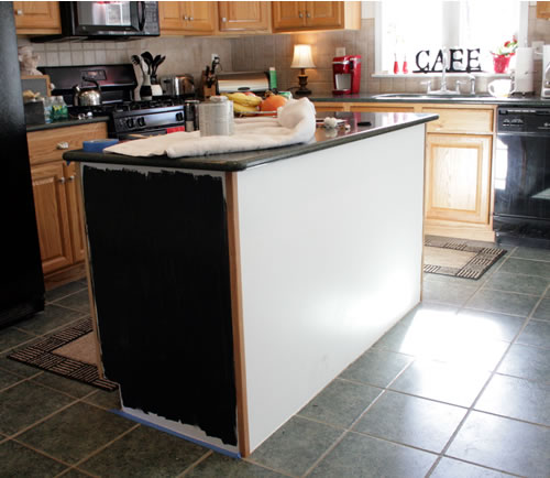 painting kitchen island black