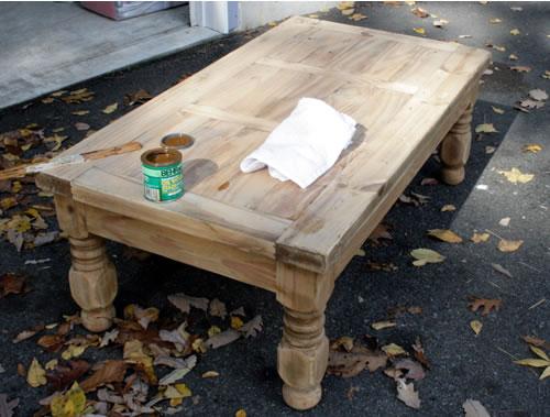 Delightful Farm Coffee Table Before