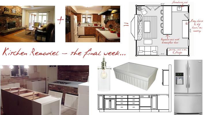 kitchen remodel final week