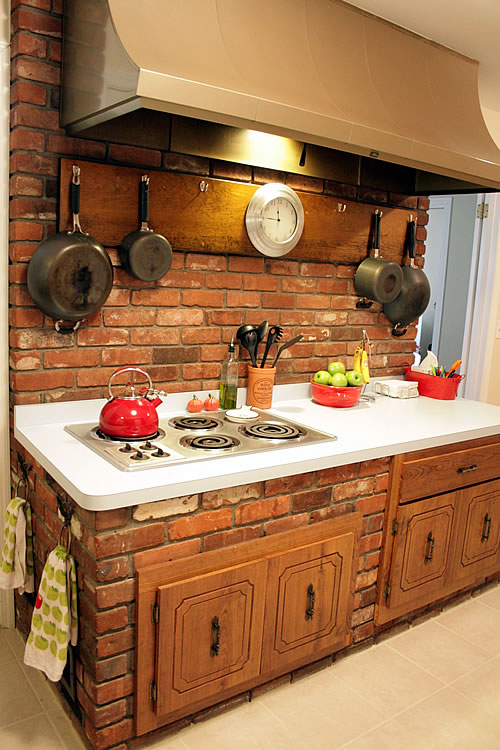 brick kitchen stove