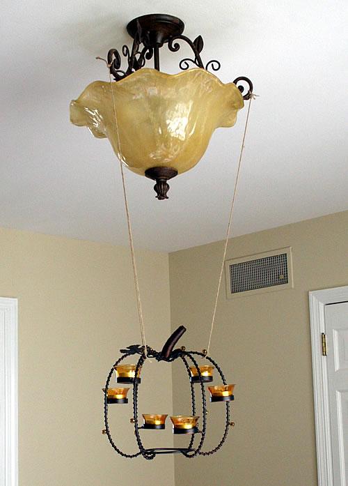 hanging thanksgiving centerpiece