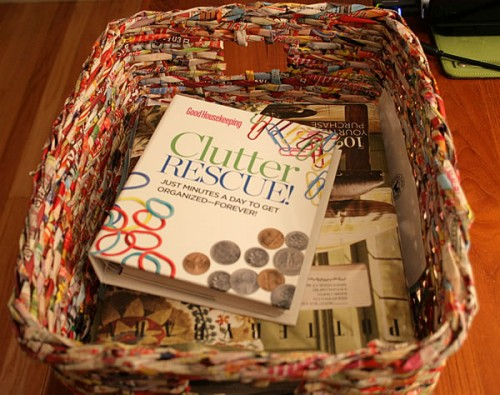 recycled magazine basket