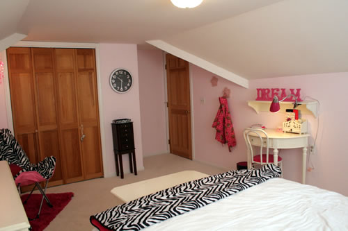 pink zebra glam room after
