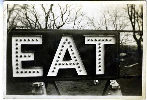 EAT signage Vintage Photograph