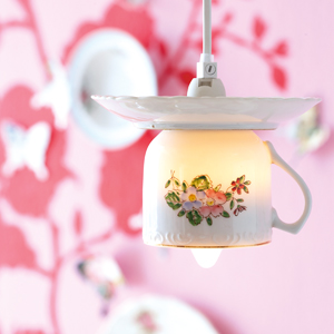 Tea Cup hanging pendent light