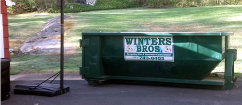 dumpster in place