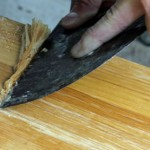 scraping top of table