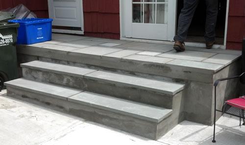 Awesome new bluestone on patio steps