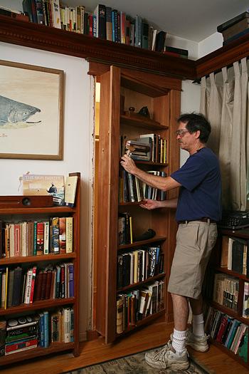 Man Cave Hidden Bookcase