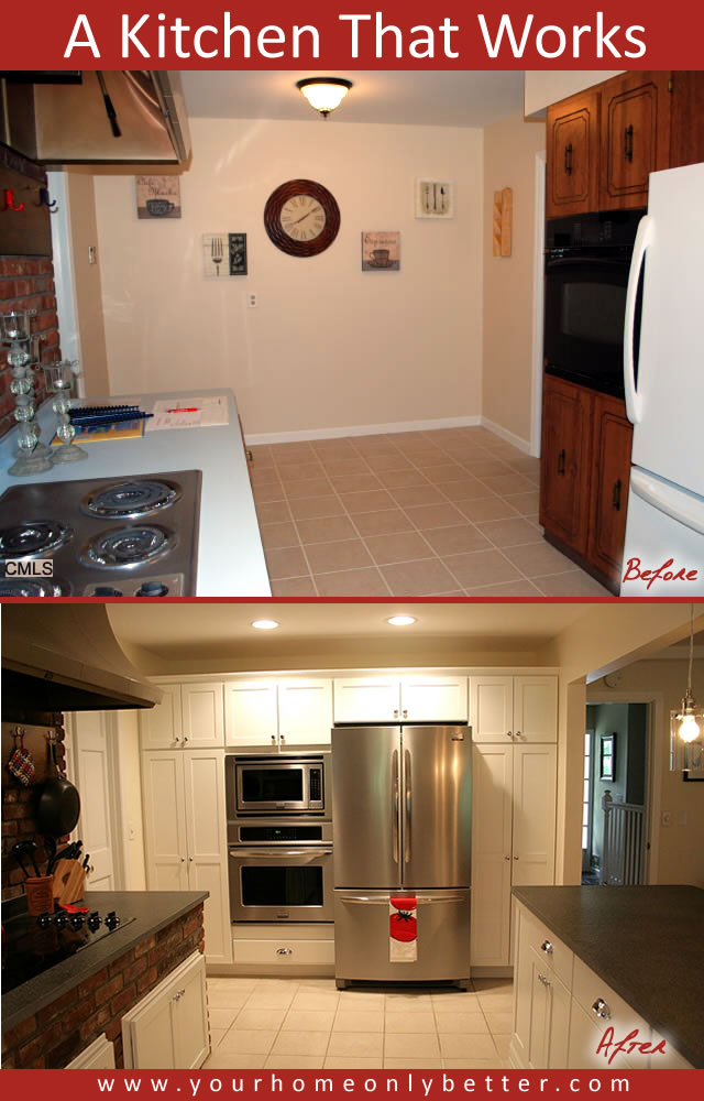 a kitchen that work pantry wall before and after