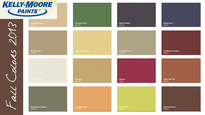 fall color trends from kelly moore paints