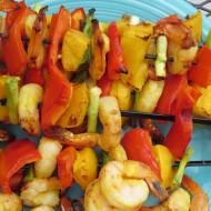 Tropical Shrimp and Mango Kabobs