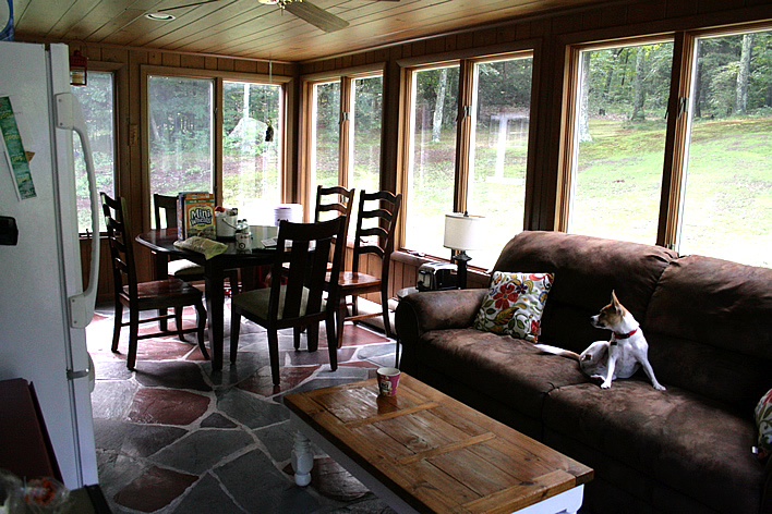 Living on the porch during a kitchen renovation