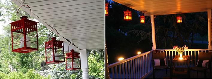 Light up the night Patio Lighting #YourHomeOnlyBetter
