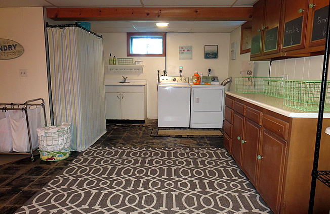 Basement Laundry before and after @yourhomeonlybetter