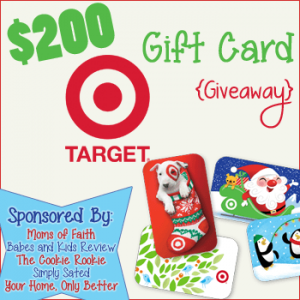 $200 Target Gift Card Christmas Giveaway!
